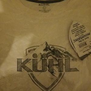 Mens kuhl white tshirt.. new  size large